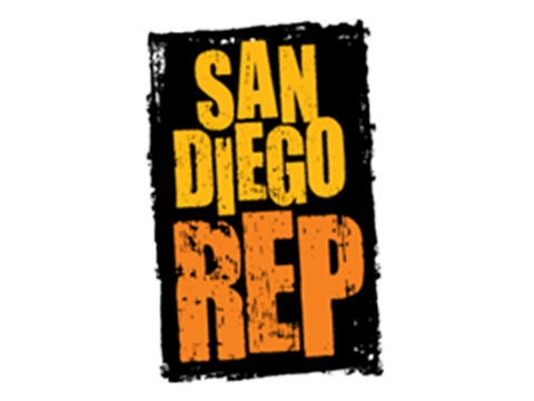 Logo for the San Diego Repertory Theater